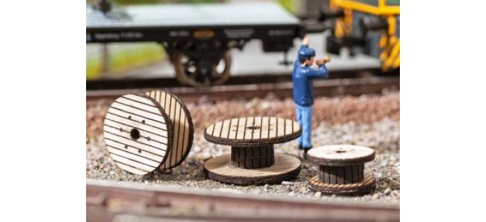 Train électrique : NOCH NO 14638 - Bobines de câble, 3 pièces