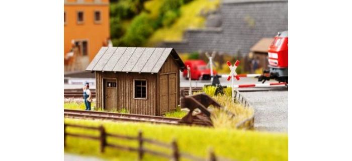 Train électrique : NOCH NO 14640 - Laser cut Cabane de bord de voie