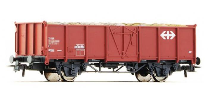 Train électrique : ROCO R67501 - Wagon tombereau chargé SBB
