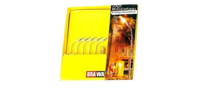 Brawa 4701 Lot de 5 lampadaires de ville avec un téléphone