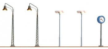 Brawa 5891 Set de 5 lampadaires