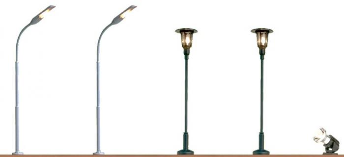 Brawa 5892 Set de 5 lampadaires