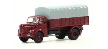 BREKINA SAI 2622 - Camion Berliet baché GLR 8, rouge et gris foncé