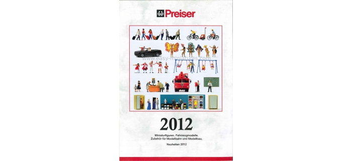 PREISER 93050 - Dépliant Preiser, Nouveautés 2012