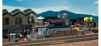 modelisme ferroviaire faller 120147 depot de charbon pour modelisme ferroviaire
