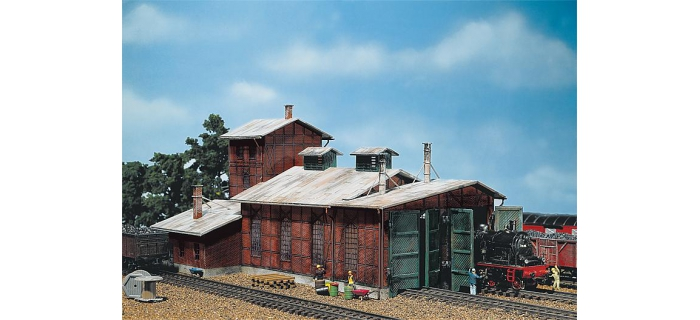 Modélisme ferroviaire : FALLER F120161 - Remise à locomotives, 2 emplacements
