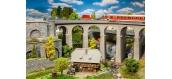 Modélisme ferroviaire : FALLER F180466 - Coffret viaduc, 2 voies, courbe