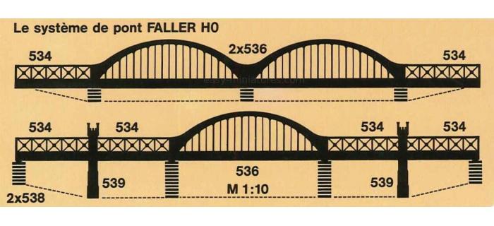 Faller 120536 pont à caissons modelisme ferroviaire