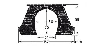 faller 120561 2 entrées de tunnel, traction vapeur