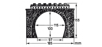 faller 120565 entrées de tunnel