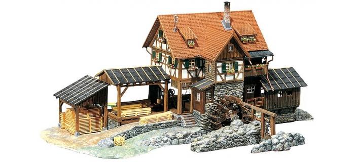 Moulin avec scierie avec moteur f130229 faller for Moulin en bois pour jardin