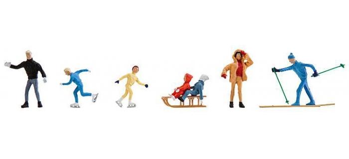 Modélisme ferroviaire : FALLER F150910 - personnages figurines d'hiver