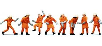 Modélisme ferroviaire : FALLER F151036 - Pompiers uniforme Orange