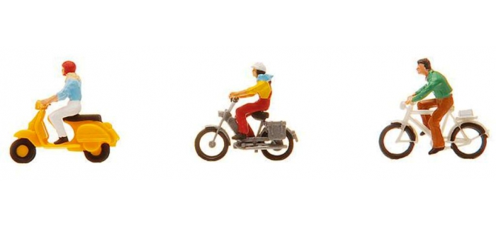 Modélisme ferroviaire : FALLER F151079 - Cycliste et cyclomotoriste