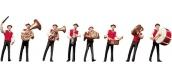 Modélisme ferroviaire : FALLER F153005 - Bande musiciens costume