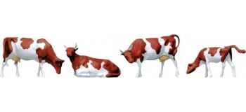 Train électrique : FALLER F154004 - Vaches Tachetées