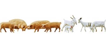 Modélisme ferroviaire : FALLER F154008 - Chevres + Porcs