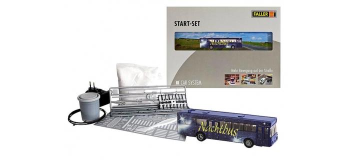 train électrique : FALLER F161499 - Kit de démarrage Car System Autobus-Nocturne (MB 0 405)