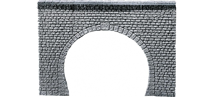 Train électrique :  FALLER F170881 : Dalle décorative entrée de tunnel Pros, Pierre naturelle taillée