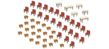 Modélisme ferroviaire : FALLER F180438 - Tables et chaises