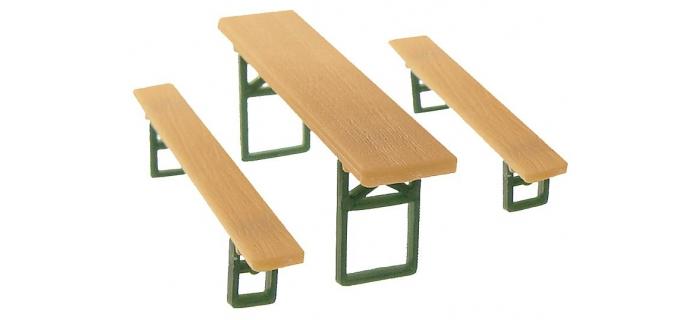 Modélisme ferroviaire :  FALLER F180442 - bancs et tables