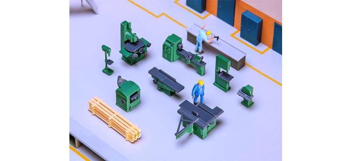 Modélisme ferroviaire : FALLER F180455 - Equipement atelier machine outil