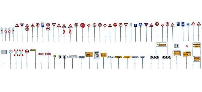 FALLER F180534 - Set panneaux de route