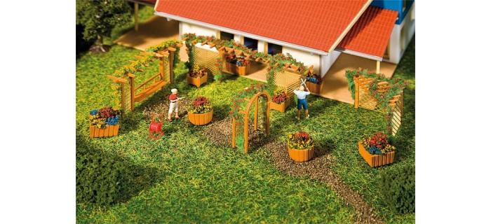 Modélisme ferroviaire : FALLER F180554 - Éléments aménagement jardin