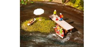 Train électrique : FALLER F180918 - Passerelle en bois