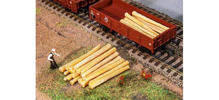 Modélisme ferroviaire :  FALLER F180925 - Troncs d'arbres (20 pièces)
