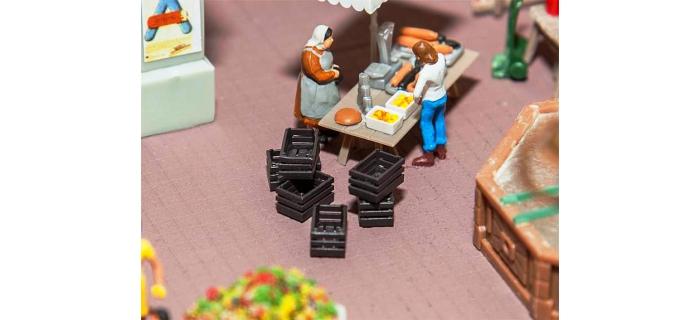 Modélisme ferroviaire :  FALLER F180927 - 6 caisses à fruits