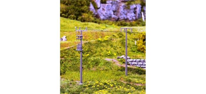 Modélisme ferroviaire : FALLER F180928 - Mats pour ligne électrique (4 pièces)