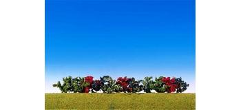 Train électrique : FALLER F181474 : 12 Buissons, de différentes couleurs