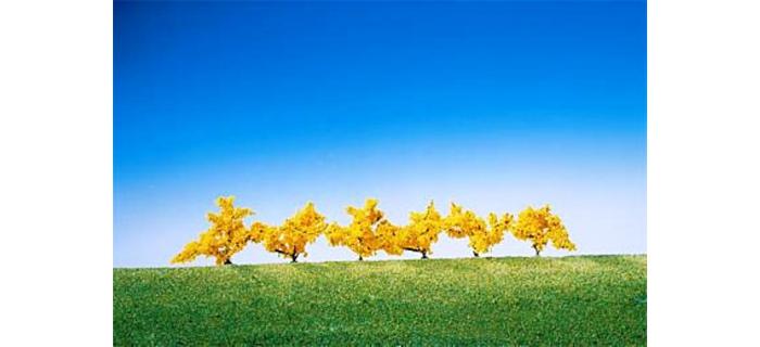 Train électrique : FALLER F181475 - 6 Forsythias, à fleurs jaunes
