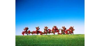 Train électrique : FALLER F181476 - 6 Buissons, à fleurs rouges