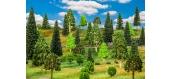 Modélisme ferroviaire : FALLER F181536 - 50 Arbres forêt mixte, assortis