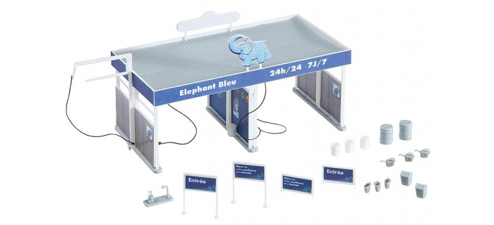station de lavage elephant bleu f190245 faller maquettes de batiments easy miniatures. Black Bedroom Furniture Sets. Home Design Ideas