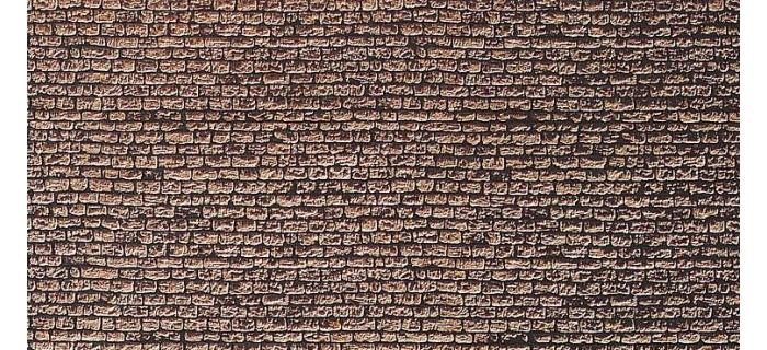 Modélisme ferroviaire : FALLER F222565 - Plaque de décor, mur en granit