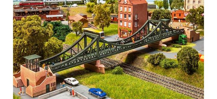 Train électrique : FALLER F222575 - Passerelle pont N