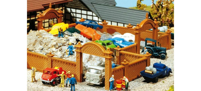 Modélisme ferroviaire : FALLER F272405 - Mur de fabrique