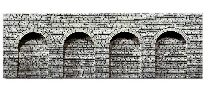 mur en pierre de taille naturelle avec arcades f272600 faller easy miniatures. Black Bedroom Furniture Sets. Home Design Ideas