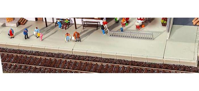 Train électrique :  FALLER F120206 - Quais / plaques de base