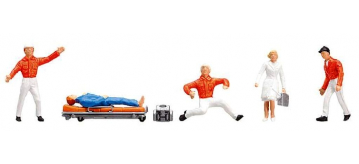 Modélisme ferroviaire : FALLER F151095 - figurines ambulanciers secours