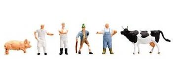 Modélisme ferroviaire : FALLER F151098 - Figurines d'abattoir