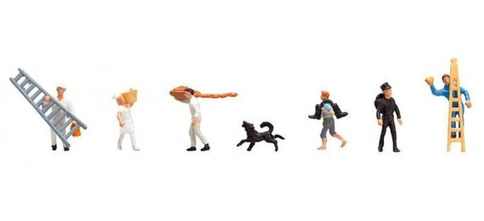 Modélisme ferroviaire : FALLER F155334 - Figurines ouvriers artisans