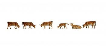 Modélisme ferroviaire : FALLER - Figurines vaches de montagne N