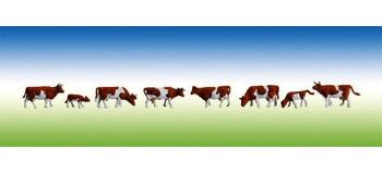 Modélisme ferroviaire :  FALLER F155507 - Vaches, tachetées de brun N