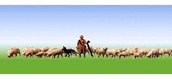 Modélisme ferroviaire :  FALLER F155510 - Bergers + moutons N