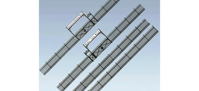Train électrique : FALLER F180412 - Clôture métallique avec portail