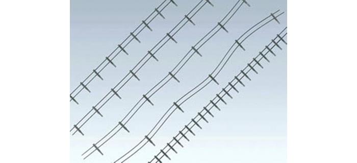 Train électrique :  FALLER F180432 - Clôture métallique avec montants en béton.